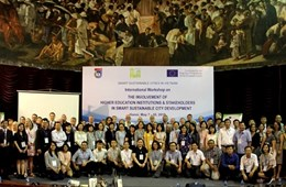 VNU University of Science and hundreds of international experts discuss sustainable smart cities in Vietnam