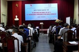 "VNU University of Science hosted ""The 13th International Symposium of Fine Bubble Technology – Hanoi 2019""."